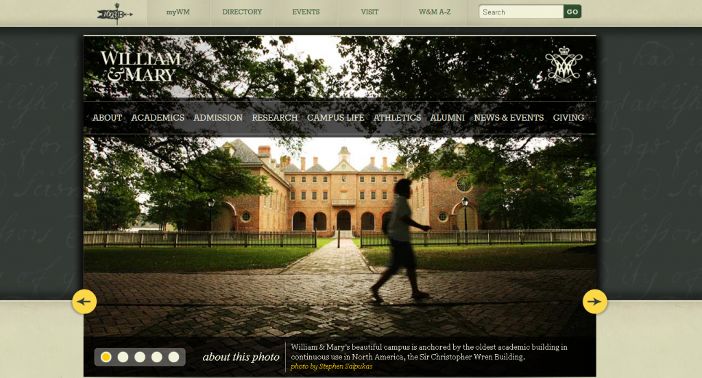 Top 10 best designed college websites the sequel the for What are the best websites