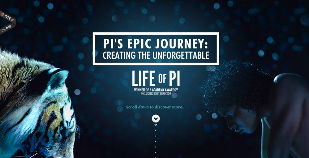 Interactive telling the story of the making of Life of Pi
