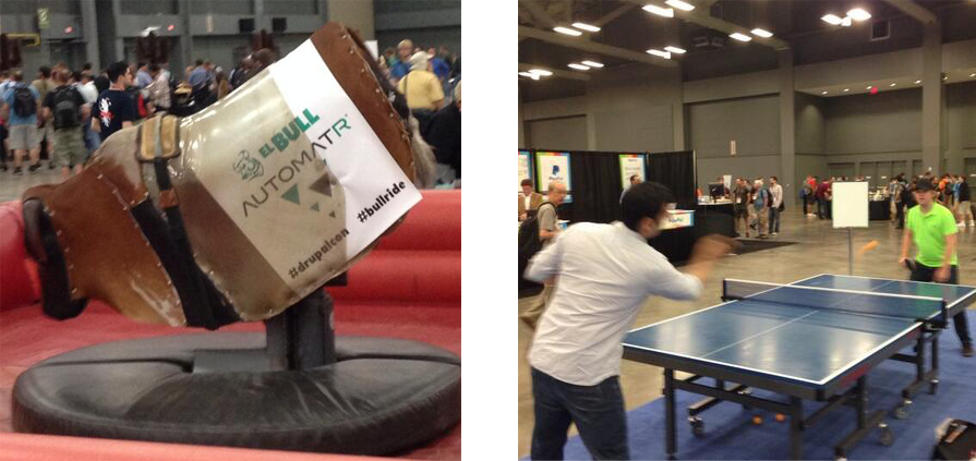 Drupalcon mechanical bull and ping pong