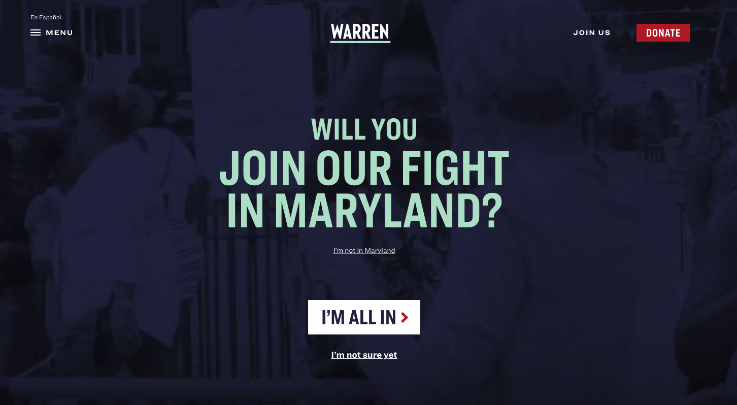 Elizabeth Warren Website