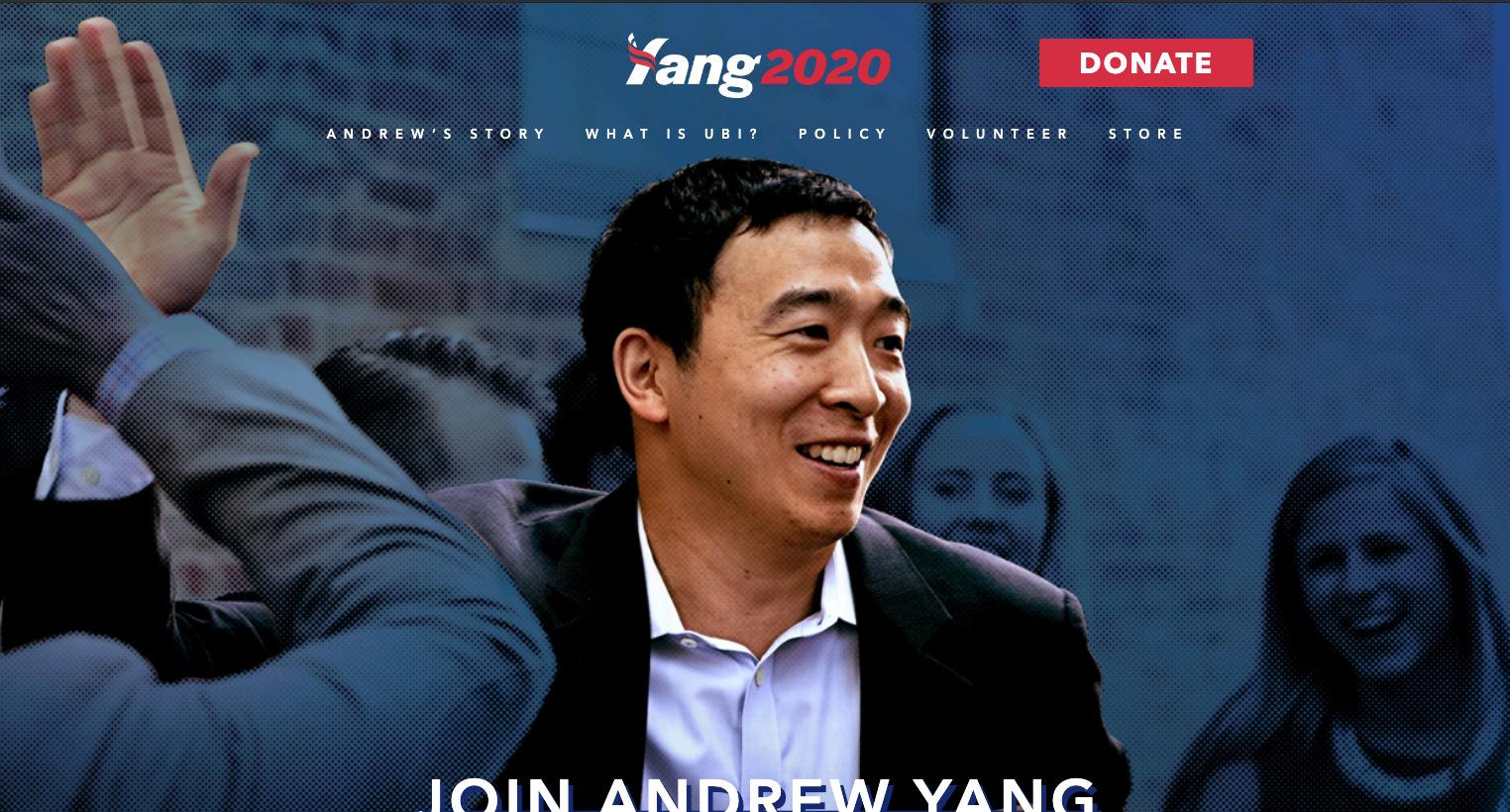 Andrew Yang Website